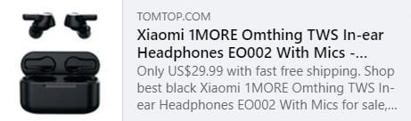 1MORE Omthing TWS In-Ear Headphones EO002 With Mics السعر: 25.99 دولارًا